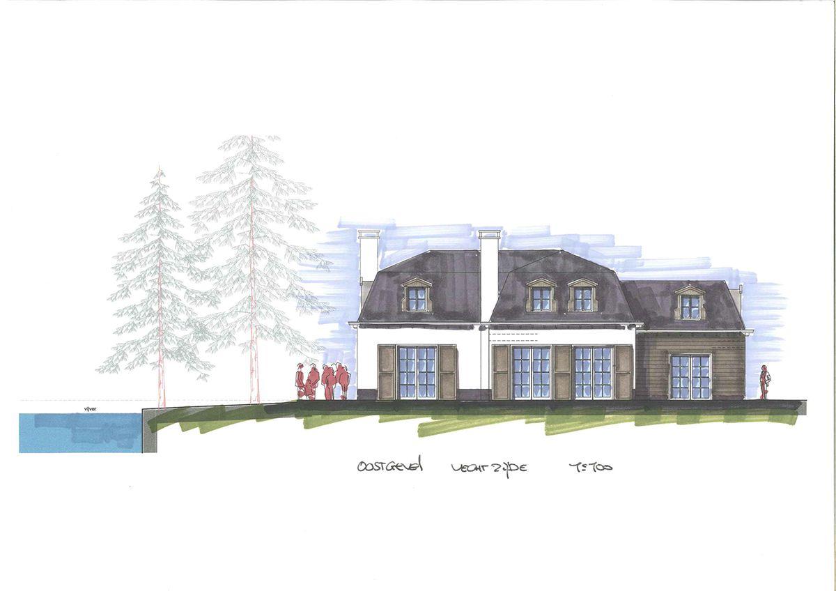 buroduck-villa-nieuwbouw-schets